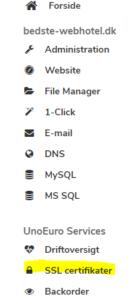 Unoeuro SSL? Sådan slår du gratis SSL til hos Unoeuro